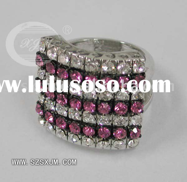 wholesale women's fashion jewelry alloy rhinestone rings