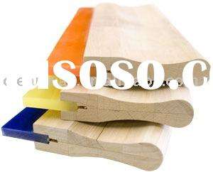 wooden handle rubber squeegee--screen printing machine parts
