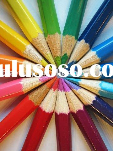 wooden promotion drawing color pencil