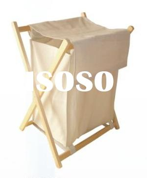100% Cotton Canvas fabric Laundry hamper frame with mesh liner