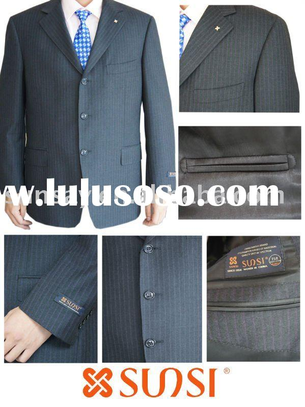 2010 new style men's business wool/polyester suit 20180