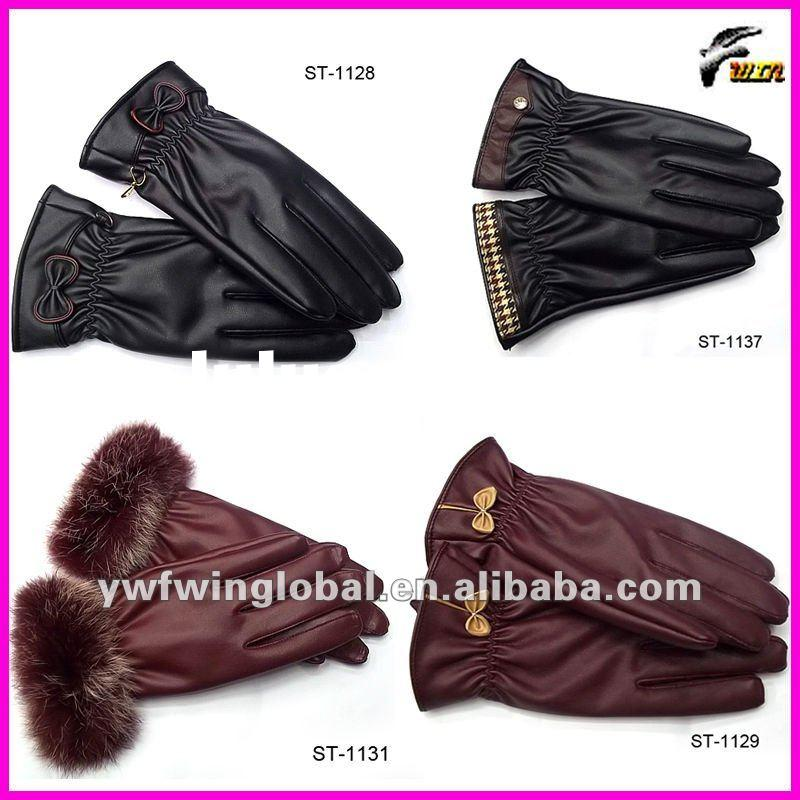 2011/12 most popular fashion pu gloves with newest design hot sale