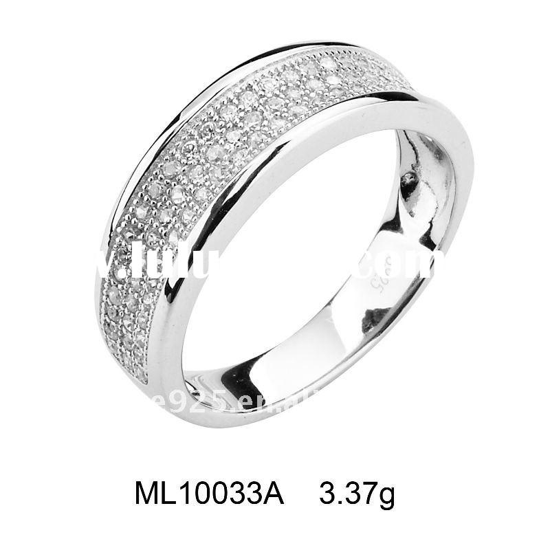 2011 Luxurious 925 sterling silver Micro pave setting engagement ring