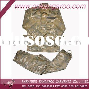 2011 men's 65% polyester 35% cotton camouflage army uniform