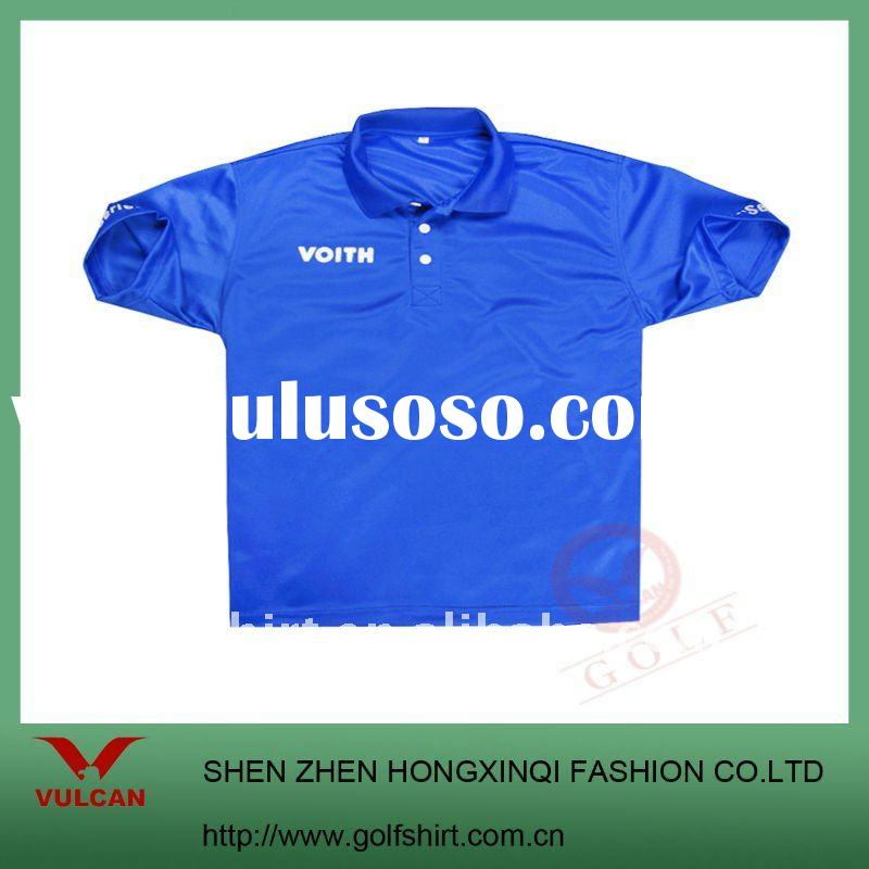 2012 classic dark blue dry fit polo golf shirt with embroidering or printing logo