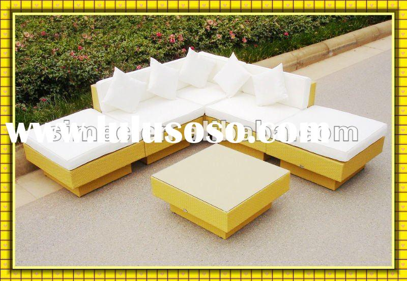 2012 new style low price outdoor wicker furniture rattan sofa sets