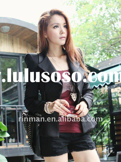 2012 spring new style fashion wild cotton casual leisure suit for lady
