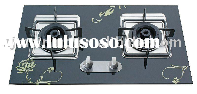 2 burners gas cooktop(stainless steel panel)
