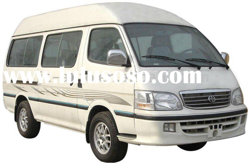 6-12 seats, white, high roof flat nose Jincheng mini bus (GDQ6480A1T)