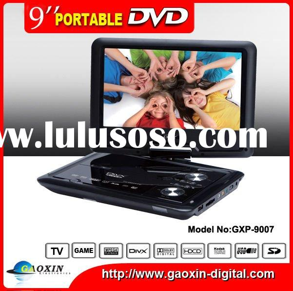 9 Inch portable dvd player with tv tuner