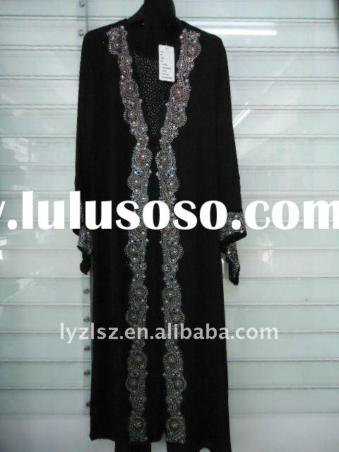 A081706 2011 new style boutique dubai abaya with diamond and embroidery