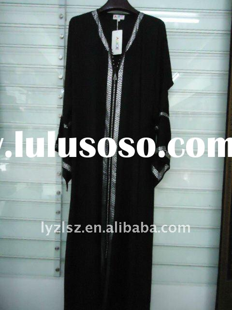 A081711 Cheap boutique dubai black abaya with diamond and embroidery,dubai fashion abaya