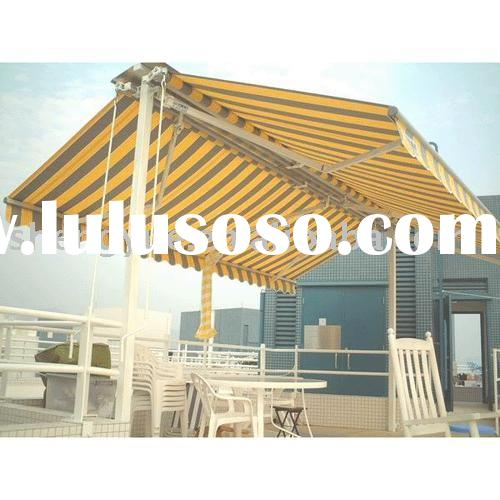Awning, Retractable awning, Outdoor furniture, Gazebo awning, Shade