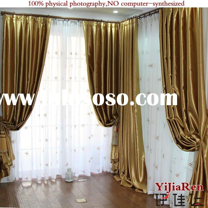 BC16103 100%Polyester exquisite blackout window curtain