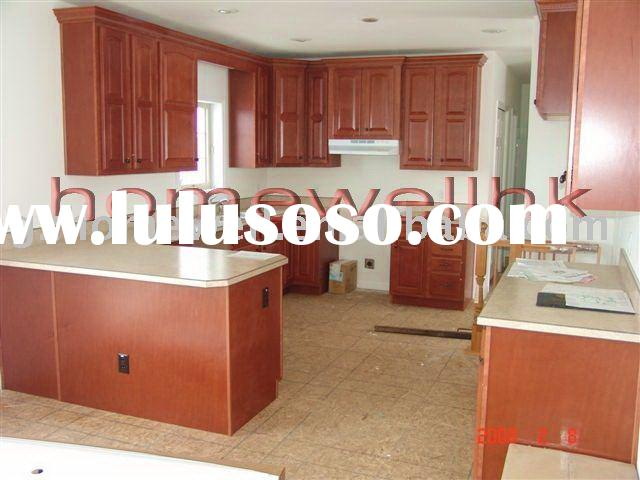 Beech wood kitchen cabinet