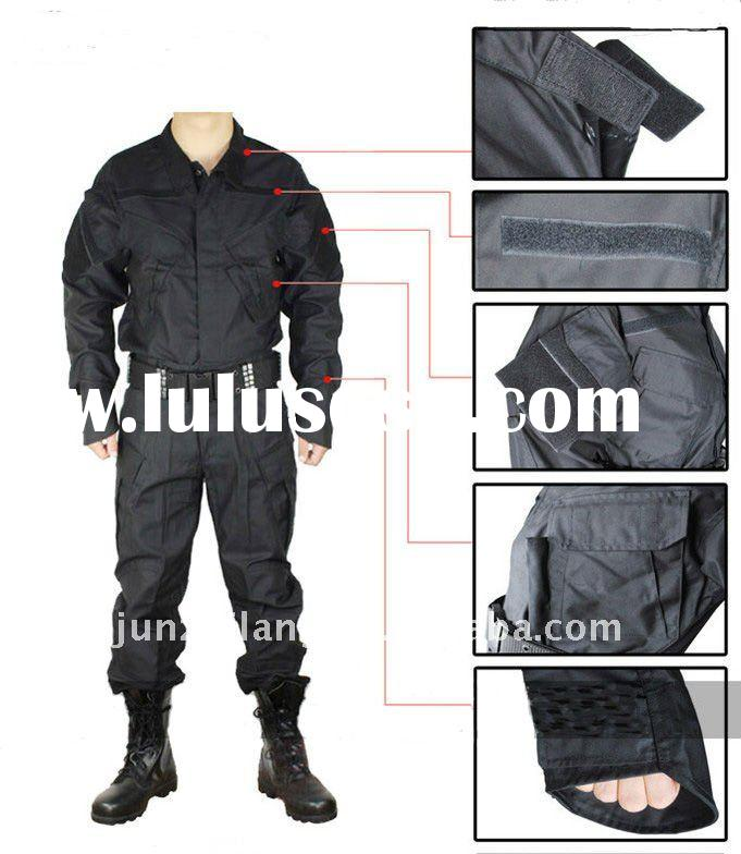 Black BDU Army Uniform