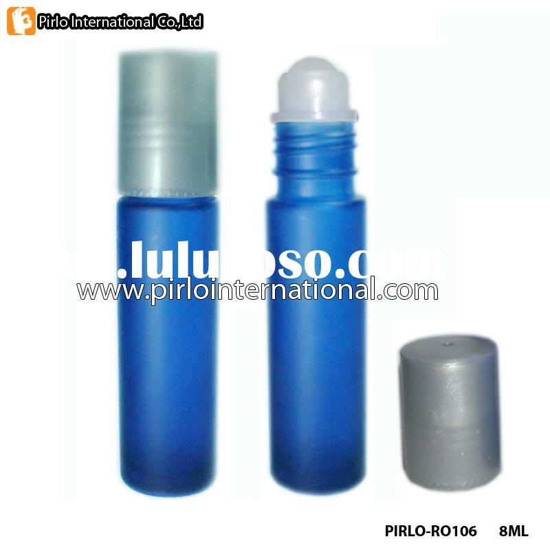 Blue Glass Roll On Bottle