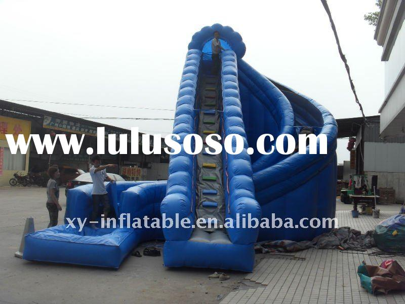 Blue giant inflatable water slide for adult