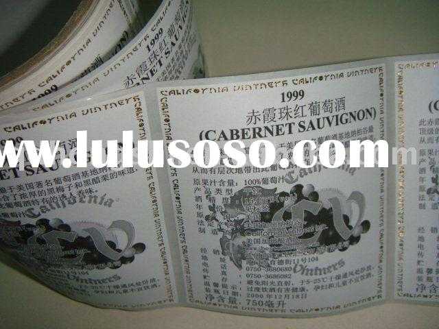 By air or express, free design revise, OEM available, CMYK color, self adhesive whisky label printin