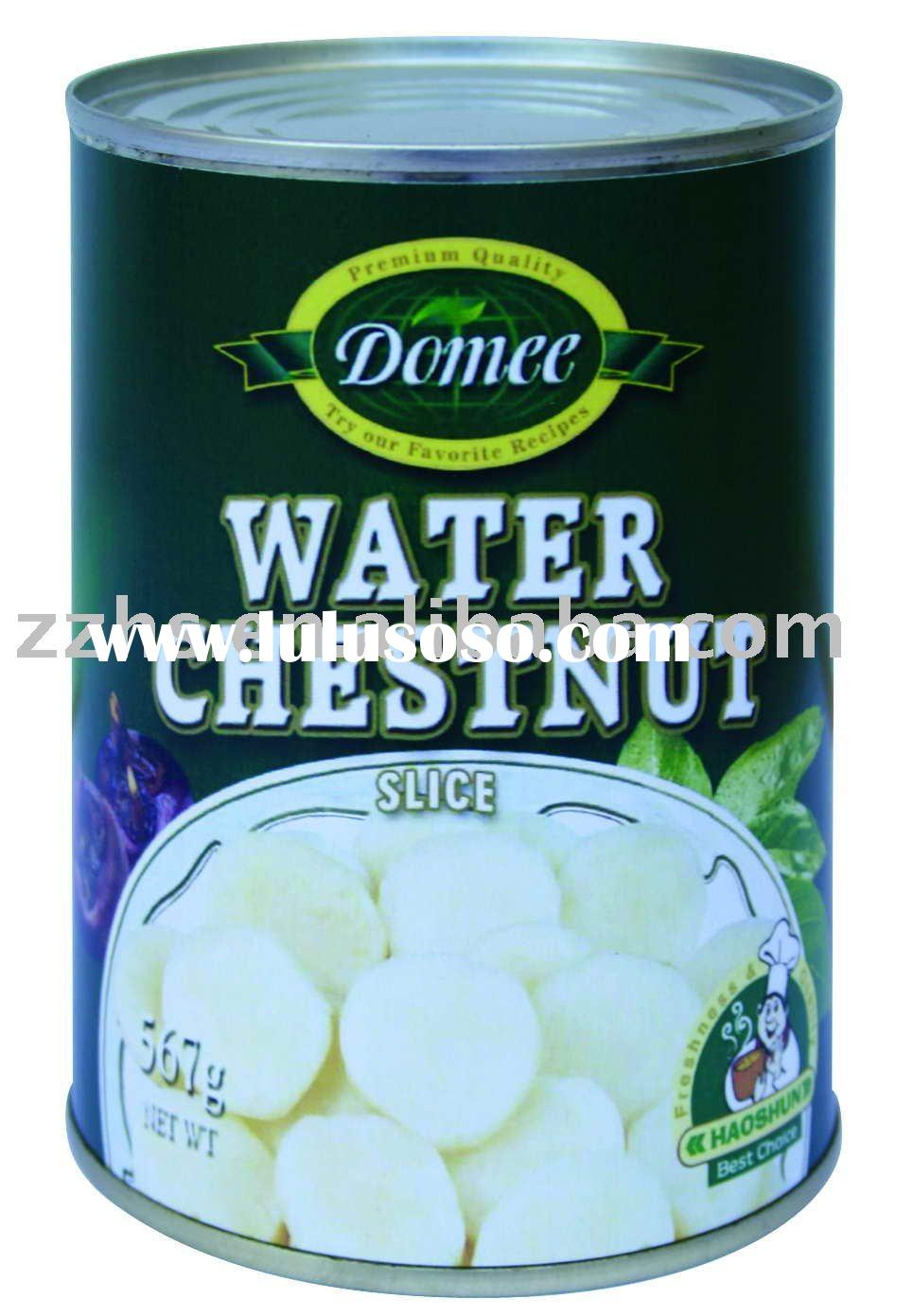 Canned Water Chestnut slice,canned vegetable,water chestnut