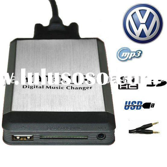 Car Digital CD Changer USB SD MP3 Adapter for VW Passat Jetta Golf