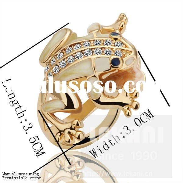 Characteristic frog designs engagement Ring, 18K gold diamond Ring 18KRGPR055