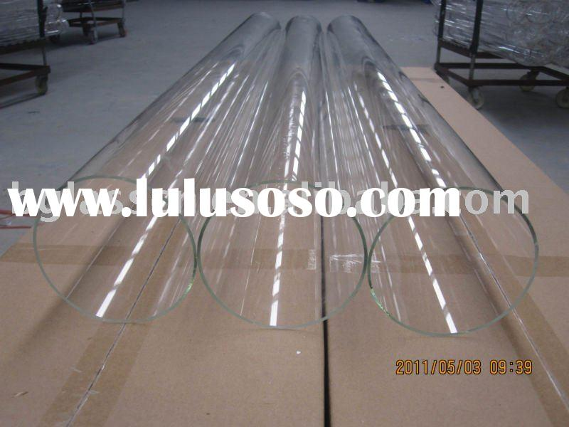 China Clear pyrex glass tube