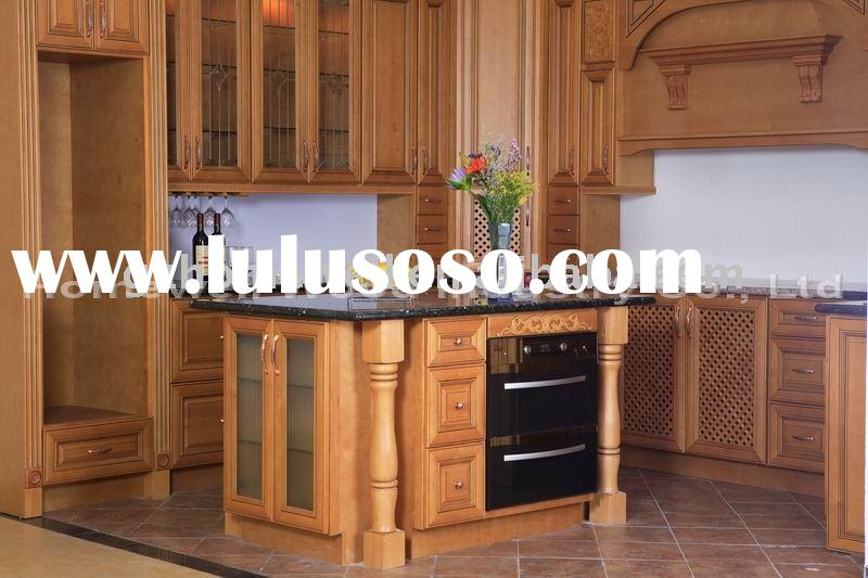 Classic Beech wood kitchen cabinet