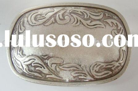 Classic plain belt buckle in Antique silver color