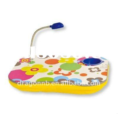 Colorful Padded Lap Desk with Lamp and Cup Holder