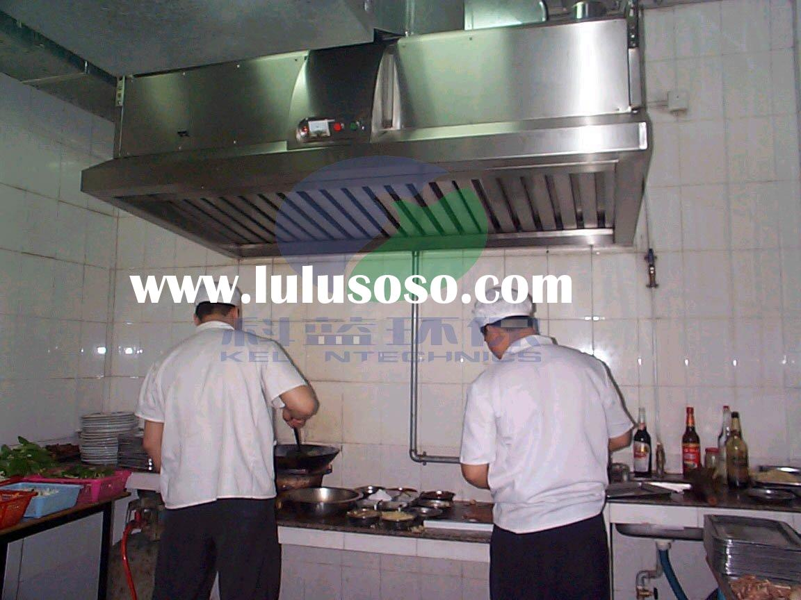 Commercial kitchen range exhaust vent hood with esp for Commercial kitchen grease filters