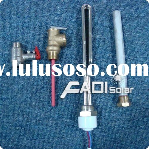 Compact Pressurized Solar Water Heater Accessories (Electric heater,Maenesium rod,T/P valve,Relief V