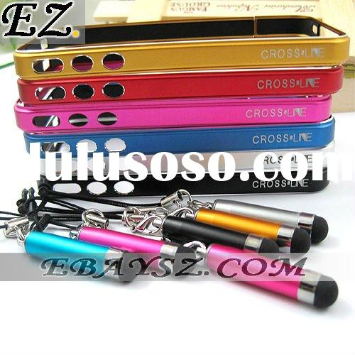 Cross Line MC-1 Aluminum Element Metal Touch Pen With Bumper for iPhone 4 @IP-636