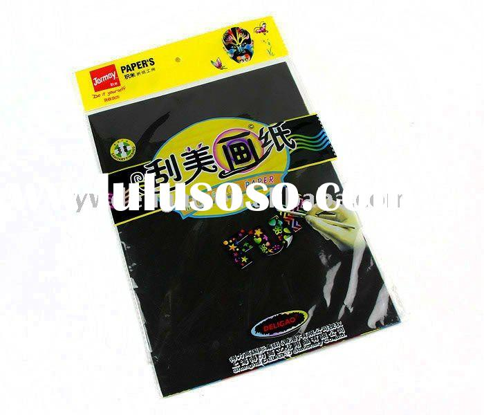 DIY Handcraft Hot Sale New Fashion Design Magic Rainbow Scratch Drawing Paper with Multicolour