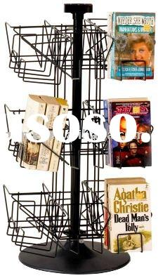 Desk-mounted Rotary Book Shelf DVD Holder CD Countertop Display Pop Display Brochure Stand Cards Dis