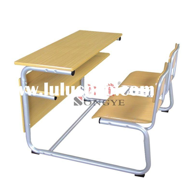 Double Student Desks Chair Study Desk And Chair School Desk School Chairs
