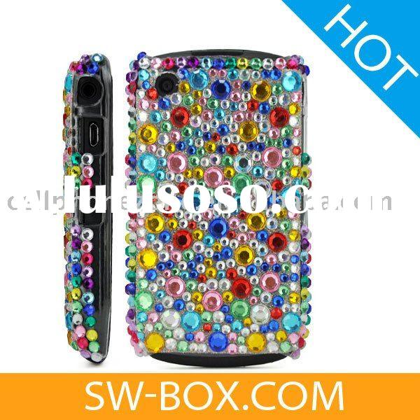 Diamond Rhinestone Bling Hard Case Cover For BlackBerry Curve 8520 8530 - Colorful