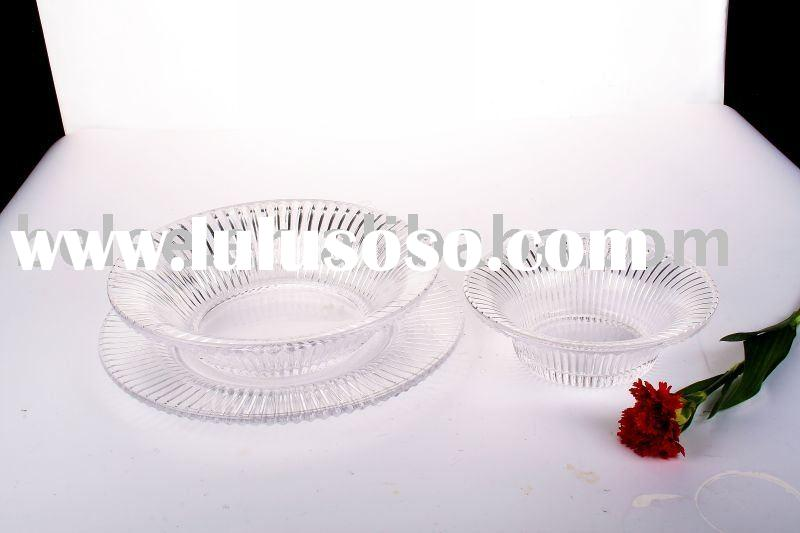 Dinner plate sets,crystal glass plate,glass dish,clear color plate