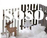 ELK/ CHRISTMAS TREE SHAPED WOODEN FENCE