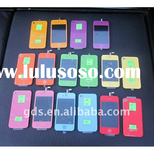 For iPhone 4S LCD Display and Touch Screen Assembly with Back Cover with Home Button