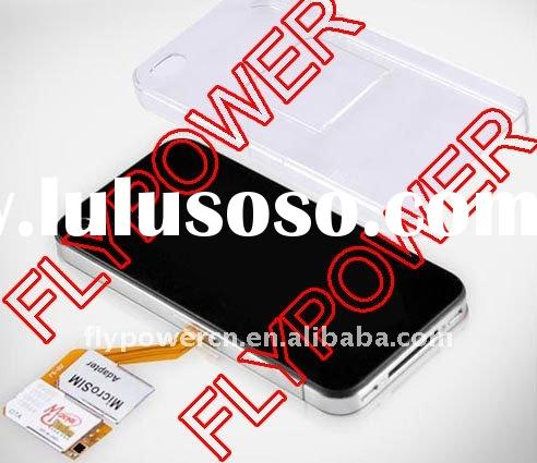 For iphone 4G Tri-SIM Card in American IC with Back Cover