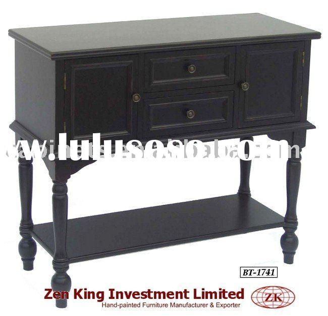 Hand Painted Country Style Wooden Console Table