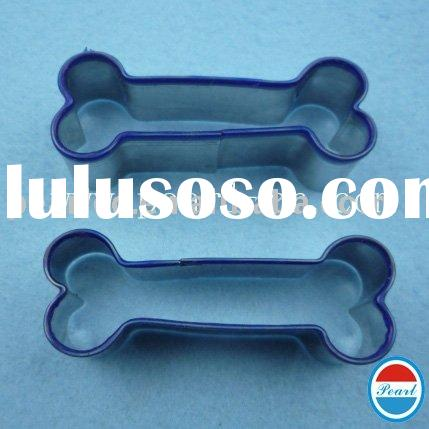High Quality Free sample charge 430#metal Stainless steel+silicone edge dog bone plastic cookie moul