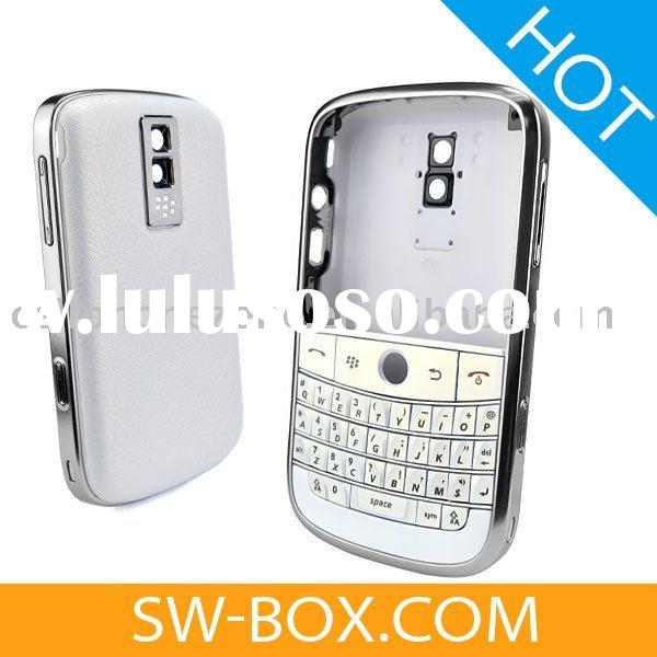 Housing WhiteBerry Faceplate Cover with Pearl White Keypad / White Battery Cover for BlackBerry Bold