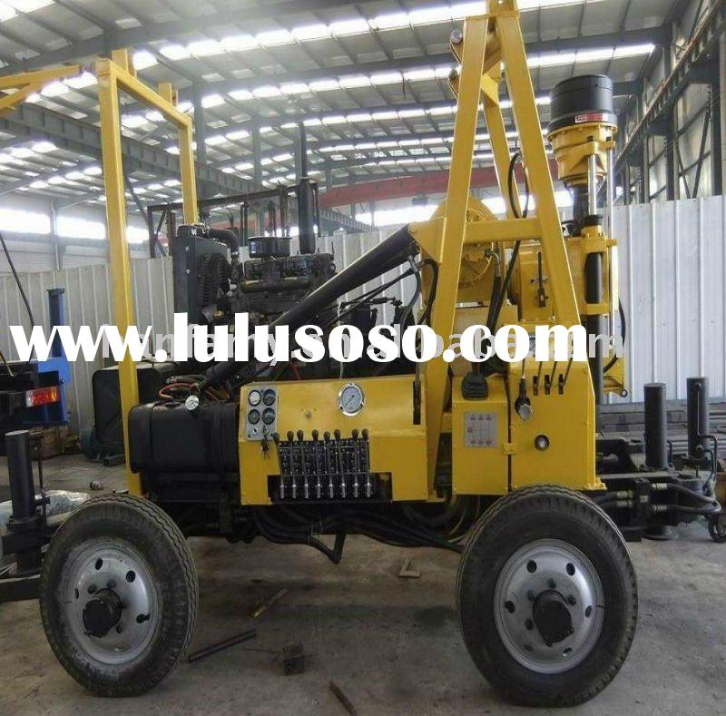 Hydraulic Water Well Drilling Rigs! High-efficiency and Trailer Type! Model HF-3