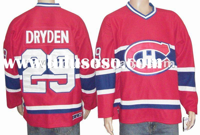 Ice Hockey jersey 29 DRYDEN Red jersey name and number are sewn on original jersey