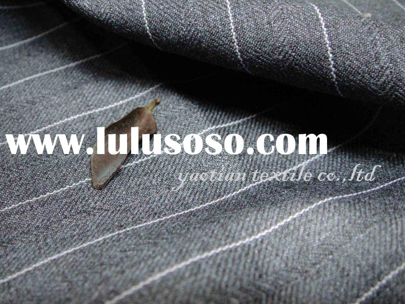 Italy style stripe suit fabric 120S wool and cashmere silk