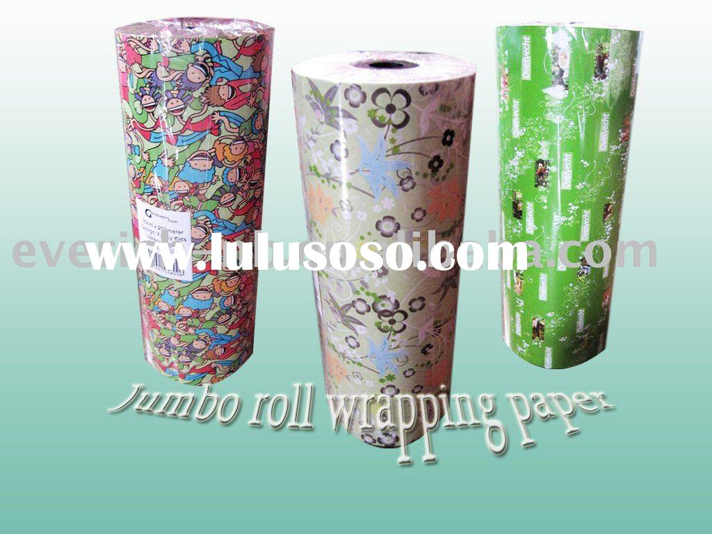 Jumbo roll LWC gift wrapping paper