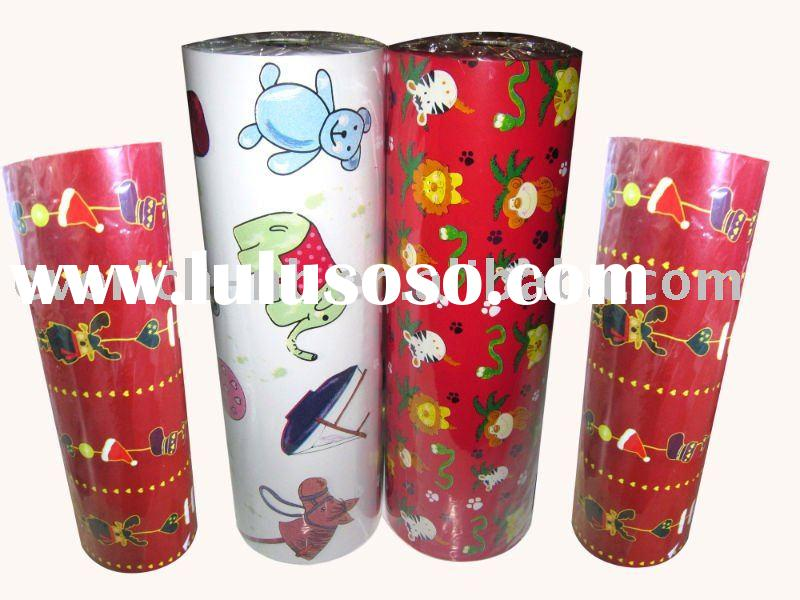 Jumbo roll christmas LWC gift wrapping paper,color wrapping paper,holiday wrapping paper,printing pa