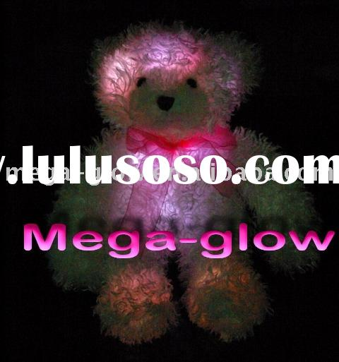 LED Light up Teddy Bear Plush Toy, flashing Stuffed bear toy,toy Rainbow light Cute Plush Bear